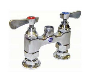 "AA-400G GSW USA - Faucet, heavy duty, deck mount, 4"", base only, no lead, NSF"