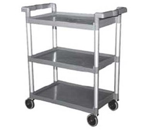 "C-23WM GSW USA - Buss Cart, (3) shelves with 12"" clearance, (3) sides 1"" upturn"
