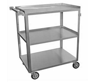 "C-3111 GSW USA - Utility Bussing Cart, small, (3) shelves with 12"" clearance"