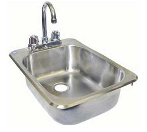 "HS-1317IH GSW USA - Hand Sink, drop in, space saver, 11-1/4""L x 13-1/2""W x 6-3/8"" deep bowl"