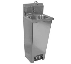 "HS-1615F GSW USA - Hand Sink, wall mount, foot operated, 12-1/2""L x 9-3/4""W sink bowl"