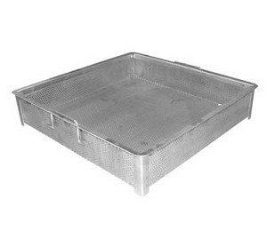 "SD-2020 GSW USA - Compartment Sink Drain Basket, 19-3/4"" x 19-3/4"" x 4"""