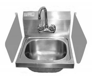 "SP-S1520 GSW USA - Splash Guard for Hand Sink, 15""W x 20""H, 18 gauge stainless steel"