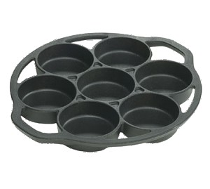 "L7B3 - Lodge Manufacturing Lodge Logic Drop Biscuit Pan 12-3/4""L x 11-3/16""W x 1-1/8""H"