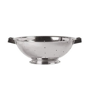 "COL-30 Update International - Colander, 3 quart, 9-3/4"" dia., 4""H, 0.3 mm thick stainless steel"
