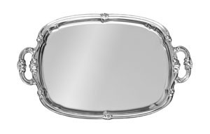 "CT-1813H Update International - Tray, 18"" x 13"", with handle, chrome plated"