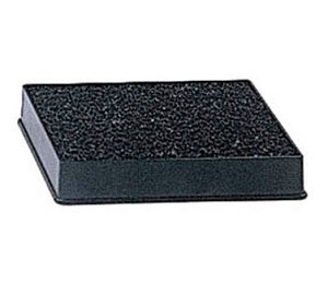 "DT-3545 Update International - Drip Tray, 4-7/8"" x 3-13/16"", 3/4""H, with sponge, plastic, black"