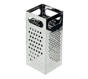"GR-449 Update International - Grater, 4-1/4"" x 4-1/4"" x 8-3/4""H, 4-edge, stainless steel"