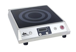 "IC-1800W Update International - Induction Cooker, 15-1/2""L x 12""W x 4-1/4""H, 140°F to 464°F temperature range"