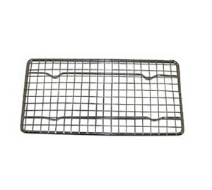 "PG48 Update International - Wire Pan Grate, 4-1/4"" x 8-1/4"", heavy duty, chrome plated"