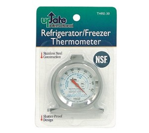 "THRE-30 Update International - Refrigerator Thermometer, 3"" dial, NSF"